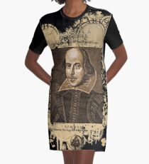 Shakespeare First Folio Front Piece Graphic T-Shirt Dress