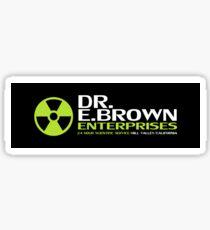 Back to the Future - Dr E Brown Enterprises Sticker