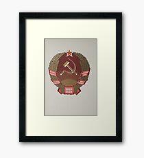 Coat of arms of the Kazakh Soviet Socialist Republic Framed Print
