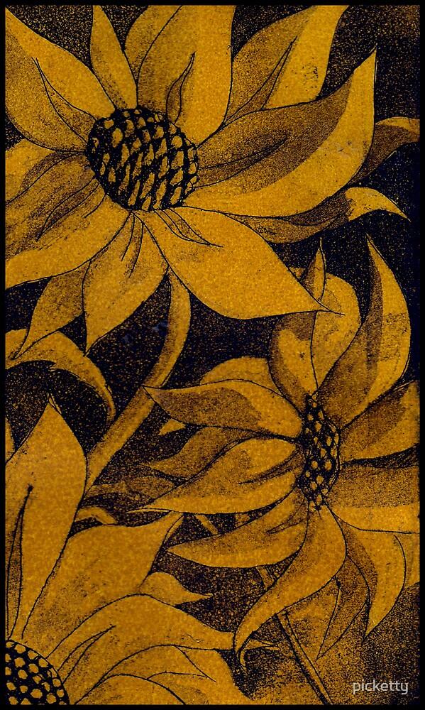 bronze daisy by picketty