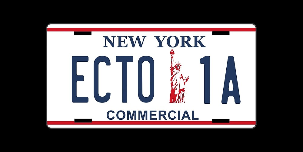 Ghostbusters - Ecto1A Licence Plate by UnconArt