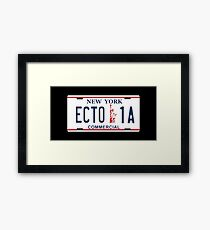 Ghostbusters - Ecto1A Licence Plate Framed Print