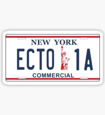 Ghostbusters - Ecto1A Licence Plate Sticker
