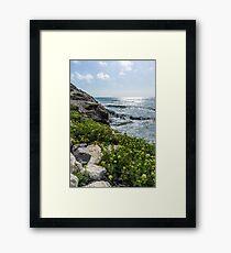Rocky Mediterranean beach I Framed Print