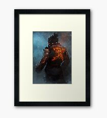 Akuma Street Fighter Poster Kanji Framed Print
