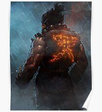 Akuma Street Fighter Poster Kanji Poster