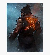 Akuma Street Fighter Poster Kanji Photographic Print