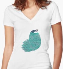 A very, very peacock Women's Fitted V-Neck T-Shirt