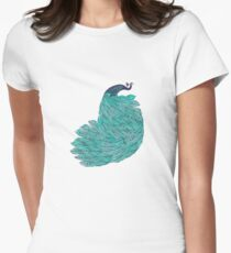 A very, very peacock Womens Fitted T-Shirt