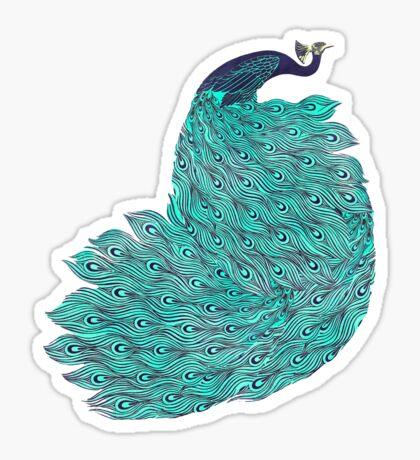 A very, very peacock Sticker