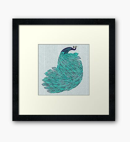 A very, very peacock Framed Print