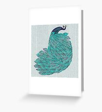 A very, very peacock Greeting Card