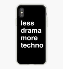 Less drama more techno iPhone Case