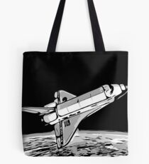 Space shuttle in orbit Tote Bag