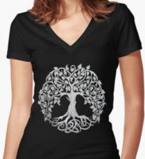 Tree of Life #1 Women's Fitted V-Neck T-Shirt