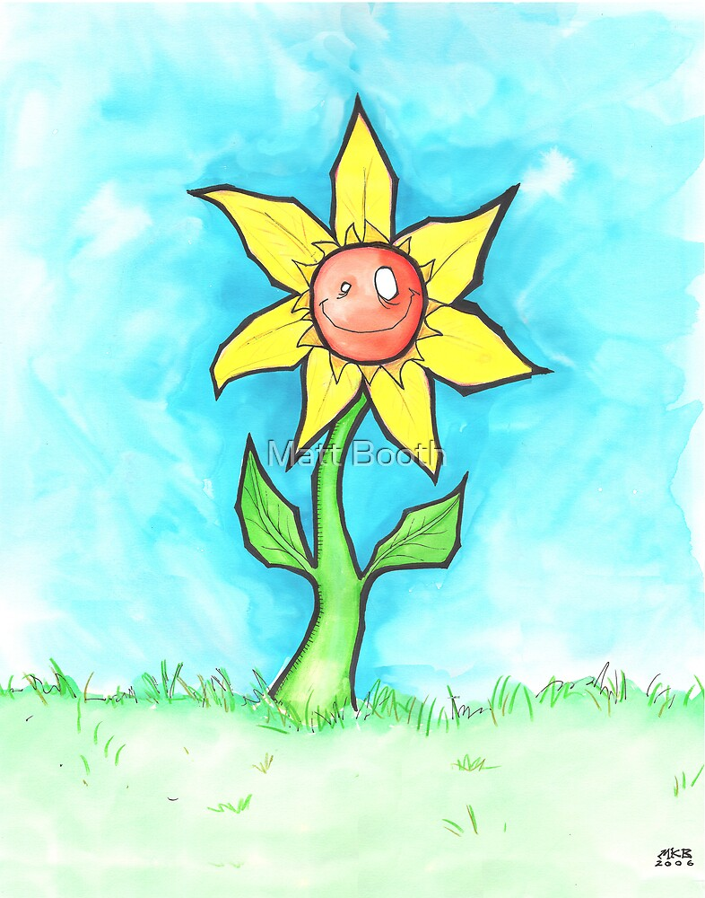 Single Sunflower by Matt Booth