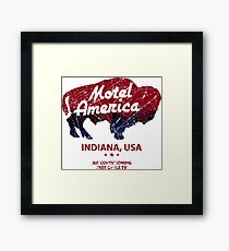 Motel America Distressed - american gods Framed Print