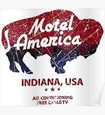 Motel America Distressed - american gods Poster