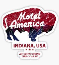 Motel America Distressed - american gods Sticker