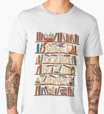 When in doubt go to the library shirt Men's Premium T-Shirt