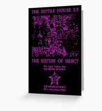 The Sisters Of Mercy - The Worlds End - The Reptile House EP Greeting Card