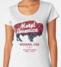 Motel America Distressed - american gods Women's Premium T-Shirt