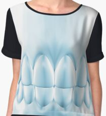 Blue Teeth  Perfect Occlusion Poster For Dentist Women's Chiffon Top