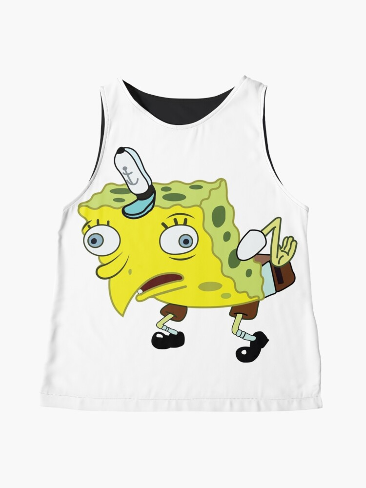 Alternate view of High Quality Spongebob Meme Sleeveless Top