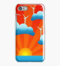 clean sustainable wind energy iPhone Case/Skin