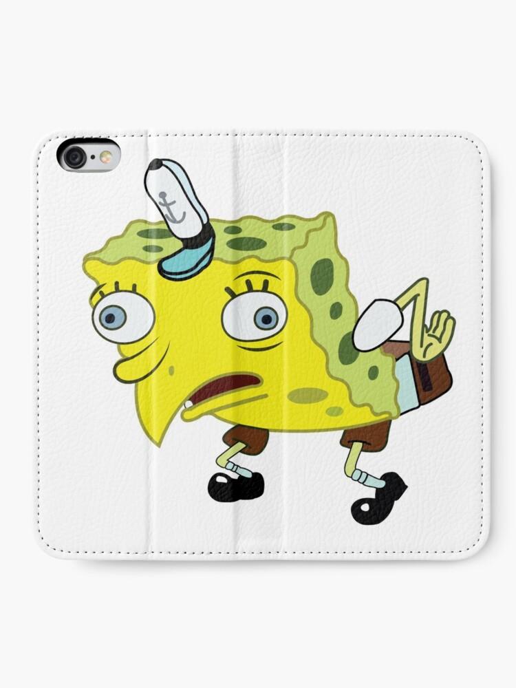 Alternate view of High Quality Spongebob Meme iPhone Wallet