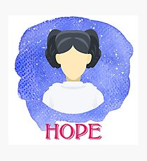 HOPE - Princess Leia Photographic Print