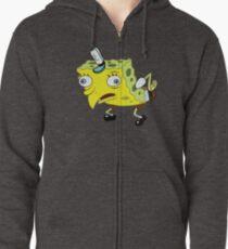 High Quality Spongebob Meme Zipped Hoodie