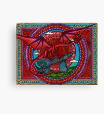 Red Dragon Sunrise Canvas Print