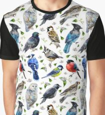 spring birds watercolor Graphic T-Shirt