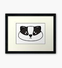 Badger - Forest animal collection Framed Print
