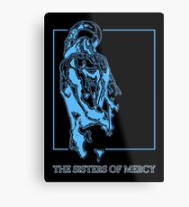 The Sisters Of Mercy - The Worlds End - Back Blue Metal Print