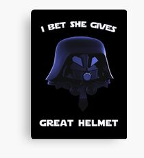 Spaceballs - I Bet She Gives Great Helmet Canvas Print