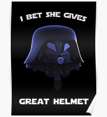 Spaceballs - I Bet She Gives Great Helmet Poster