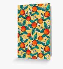 Vintage Oranges Greeting Card