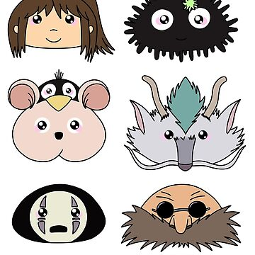Spirited away chibis by rainbowcho