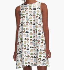 Spirited away chibis A-Line Dress
