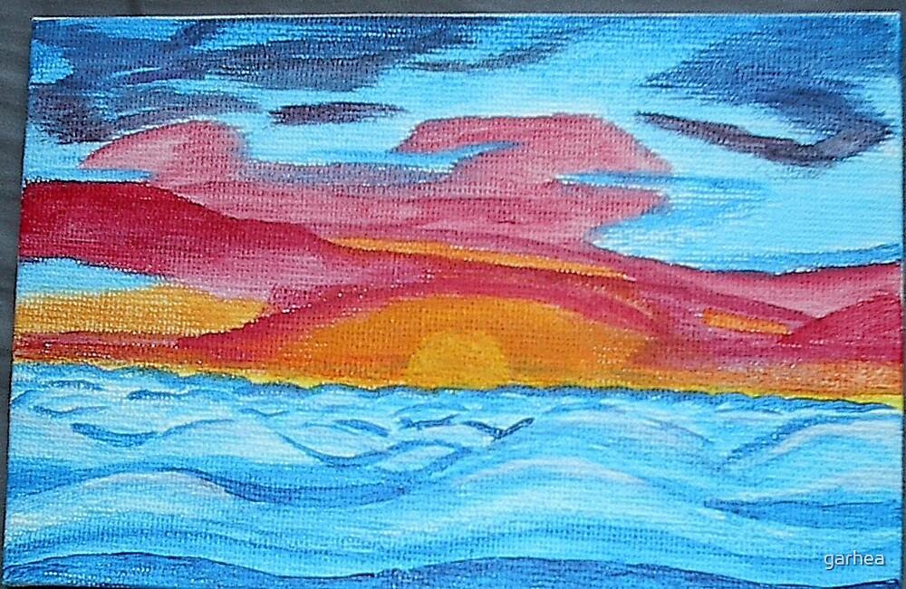 ocean's sunrise by garhea