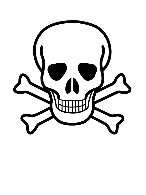 """DANGER, Poison warning, SKULL, Skull & Crossbones, Hazard ..."