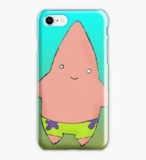 Funny drawn patrick simple design iPhone Case/Skin