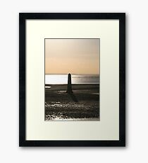 Silhoutte Sunset Framed Print