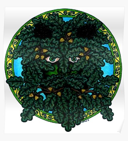 the green man (Mighty Oak) Poster