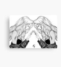 Mirror mirror - grey Canvas Print