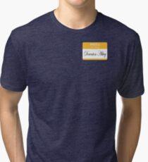 Hello badge (DA) Tri-blend T-Shirt
