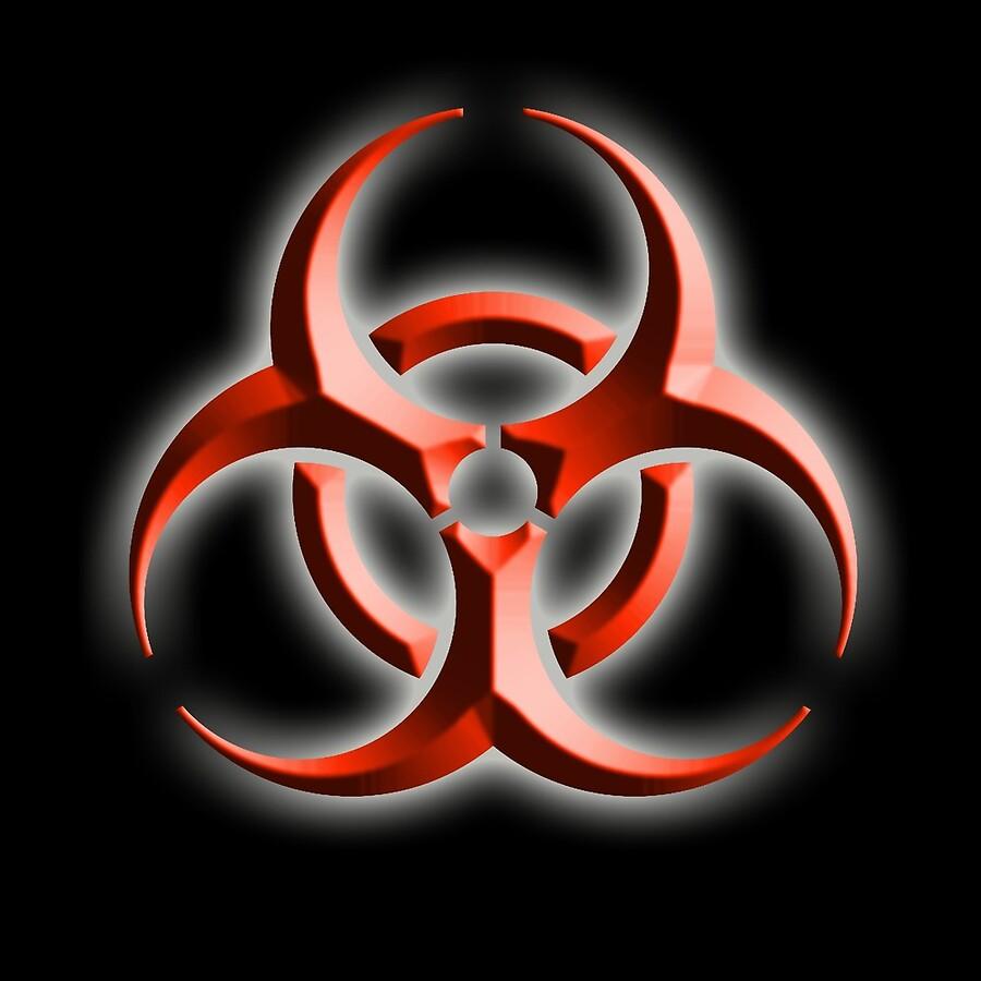 Bio hazard danger warning biohazard symbol biological hazard bio hazard danger warning biohazard symbol biological hazard red black embossed biocorpaavc Images