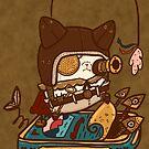 Steampunk Kitty by fluffymafi